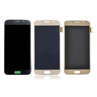 Stoff zertifiziert® Samsung Galaxy S6 Bildschirm (Touchscreen + AMOLED + Teile) AAA + Qualität - schwarz / weiß / Gold / Blau