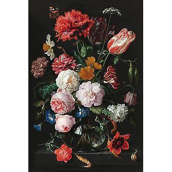 Jan Davidsz de Heem juliste asetelmia kukkia