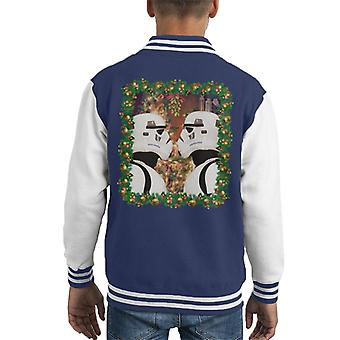Originele Stormtrooper Maretak kerst Kid's Varsity Jacket