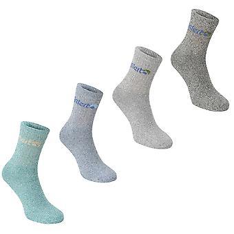 Gelert Mens Gents Walking Boot Socks 4 Pack Elasticated Opening Knitted Design