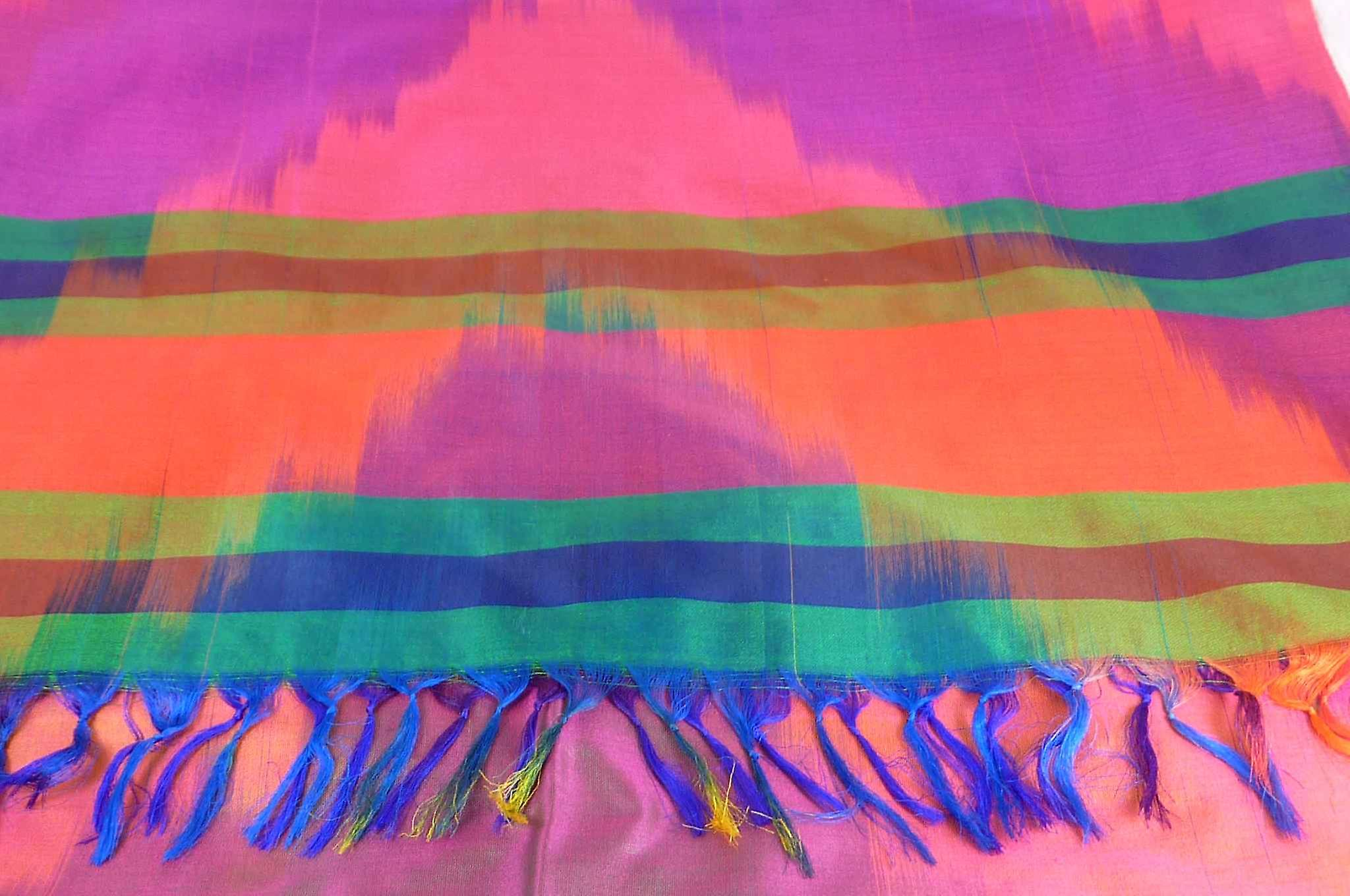 Varanasi Ekal Premium Silk Long Scarf Heritage Range Bharat 4 by Pashmina & Silk