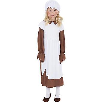 Biedny wiktoriański kostium, duży 10-12 lat