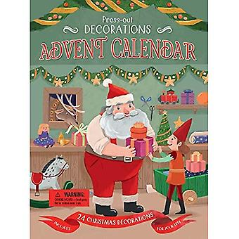 Press-Out Decorations: Advent Calendar: Includes 24 Christmas Decorations for Your Tree [Board book]