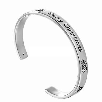 "TRIXES ""Merry Christmas"" metalen Bangle Bracelet pols Band sieraden"