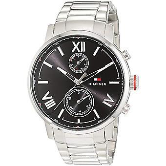 Mäns Tommy Hilfiger quartz 1791307 smartwatch, med analog display och stål armband.