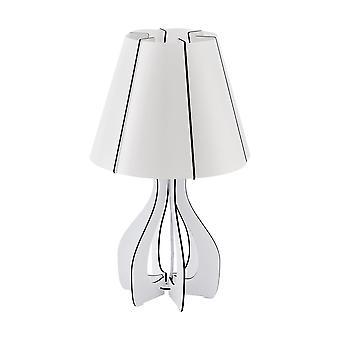 Eglo - lampe de Table lumineuse Cossano Single en finition blanche EG94947