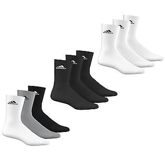 Adidas Performance Crew Hälfte gepolstert Sport Socken 3er Pack