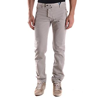 Daniele Alessandrini Ezbc107178 Men's Grey Cotton Pants