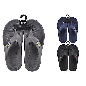Mens EVA Flip Flops Size 9 - 1 Pair Assorted Colours