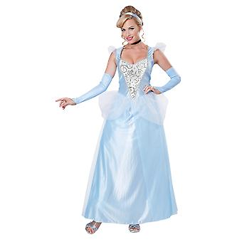 Womens Classic Cinderella Princess Fancy Dres Costume