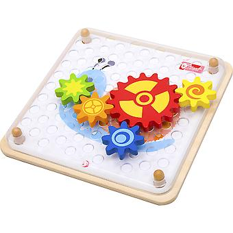 Classic World - Spinning Gears Cogs Toy Wooden Puzzle Jigsaw Educational Multi-Coloured