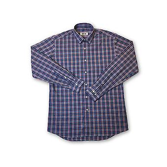 Ingram shirt in blue and red tartan pattern