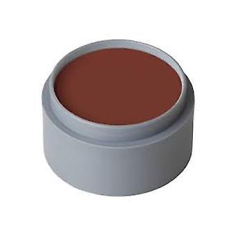 Make up and eyelashes  Water make-up brick red