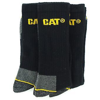 Caterpillar Crew Work Sock - 3 Pair Pack / Mens Socks