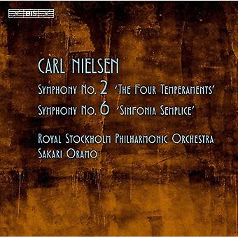 Nielsen / Royal Stockholm Philharmonic Orchestra - Symphonies nos 2 & 6 [SACD] USA import