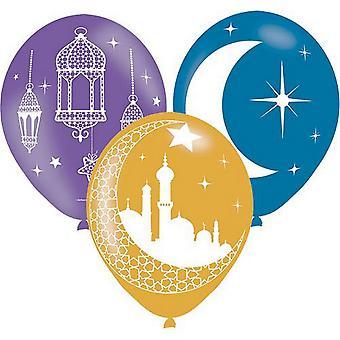 Amscan EID Mubárak 11V balónky (balíček 6)