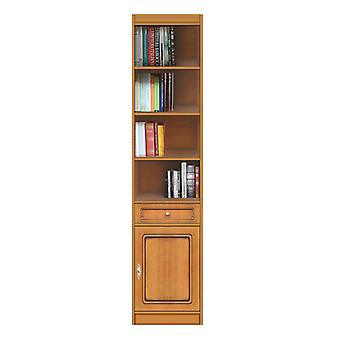 Modular bookcase with door and drawer