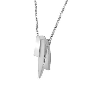 PENDANT WITH CHAIN 925 SILVER DIAMOND AND ZIRCONIUM