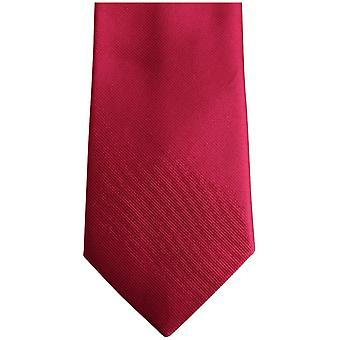 Bassin and Brown Plain Silk Tie - Deep Pink/Purple