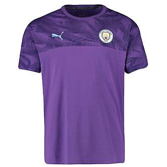 2019-2020 Manchester City Puma Casuals Tee (Lila)