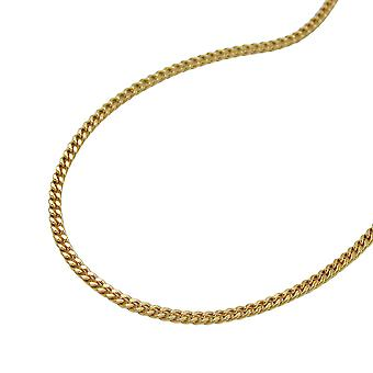Gold tank chain, chain 38 cm, 9 KT GOLD 375 for children and women