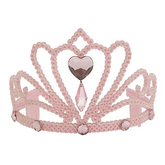 Bristol Novelty Mujeres/Señoras Glitter Heart Tiara With Faux Gemstones