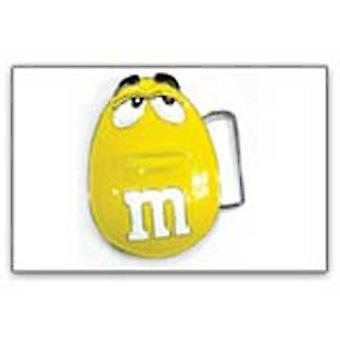 Belt Buckle - M&Ms - New Peaunt Face Mens Yellow Anime bb157526mam