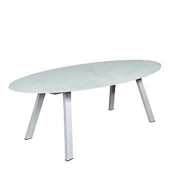 Plage7 - France Table à manger Carrare Blanc tables de jardin