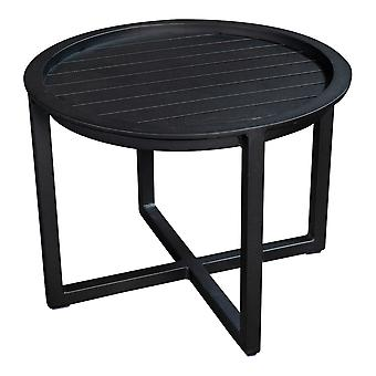 Plage7 - France QUEENS LOUNGE TABLE Full ALUMINIUM 60CM  Noir