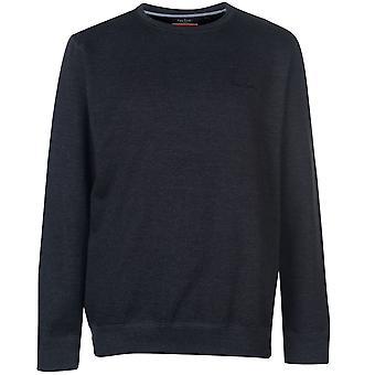 Pierre Cardin miesten Crew Neck Fleece pusero pusero pitkähihainen