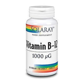 Solaray Vitamin B12 S/R 1000mcg Tablets 30 (1010)