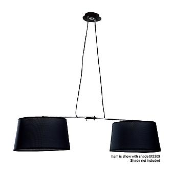 Mantra Habana Pendant 2 Light With Adjustable Body Without Shade E27 Black/Polished Chrome
