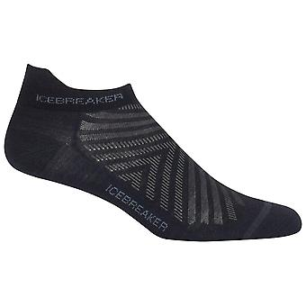 Icebreaker Black Mens Run+ Micro Sock