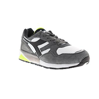 Diadora N9002  Mens Gray Suede Lace Up Low Top Sneakers Shoes
