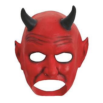 Bristol Novelty Unisex Adults Halloween Devil Latex Mouth Free Head Mask