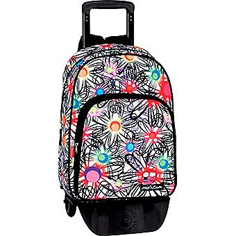 Moncihelvo - Backpack with honey trolley and lemon - mod. Blossom - 60 cm - 45 litres - multicolored