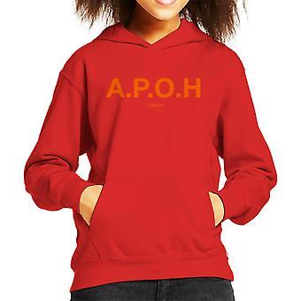 A. P. O. H klassisk orange logo kid ' s hættetrøje