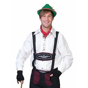 Tyrolean Costume Shirt Men's Costume Oktoberfest Shirt Men's Costume