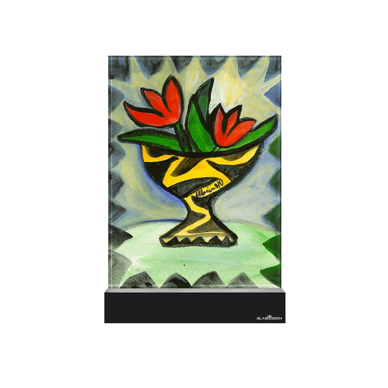 Glass vision-painting-art glass-for joy Design Ulrica Hydman Vallien