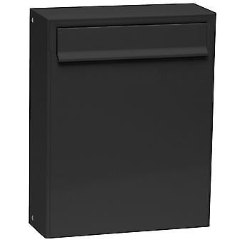 Max Knobloch fence letter box Fargo I Deep Black (RAL 9005) 8 litres