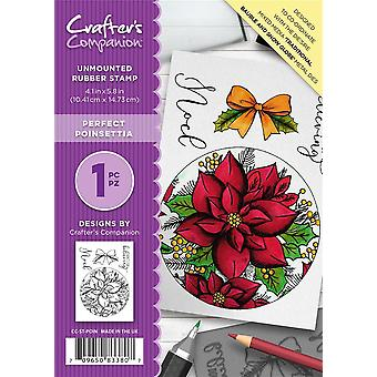 Crafter-apos;s Companion A6 Rubber Stamp - Poinsettia parfait