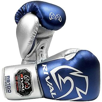 Rival Boxing RS100 Pro Sparring Boxing Gloves - Blue/Silver