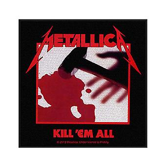 Metallica Patch Kill Em All bandet logotyp officiella nya svart (10 cm x 9,5 cm)