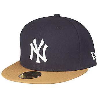 New Era 59Fifty Fitted Cap - MLB New York Yankees navy beige