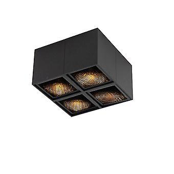 QAZQA Design spot black 4-light - Qubo Honey