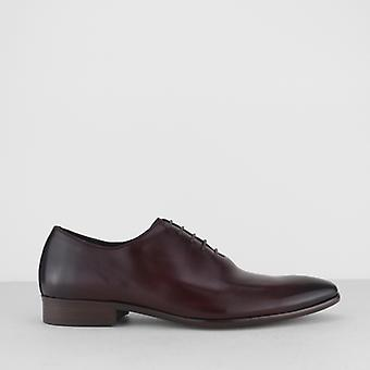 Blakeseys Masham Mens Leather Plain Toe Oxford Shoes Burgundy