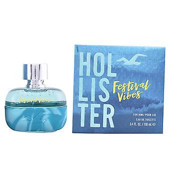 Hollister Festival Vibes för honom EDT Spray 50 ml för män