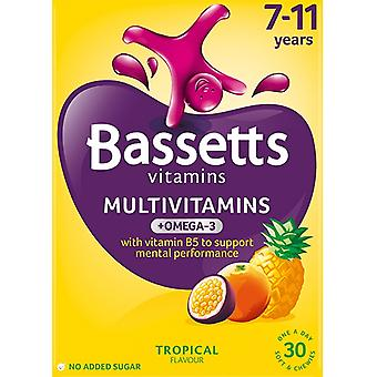 Bassetts Multivitamins +Omega3 Tropical Flavour 7-11 Years