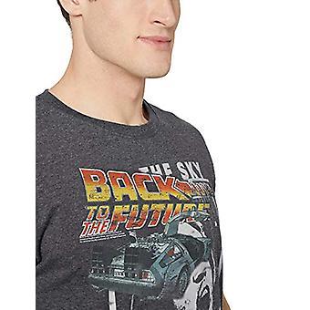 Amerikan Klasikleri Geri Gelecek Delorean Logo Yetişkin Erkek T-Shirt, Siyah ...
