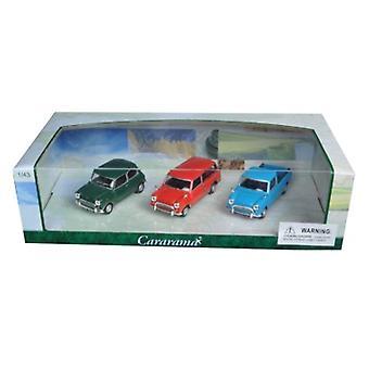 Mini Cooper 3Pc Gift Set 1/43 Diecast Model Cars By Cararama